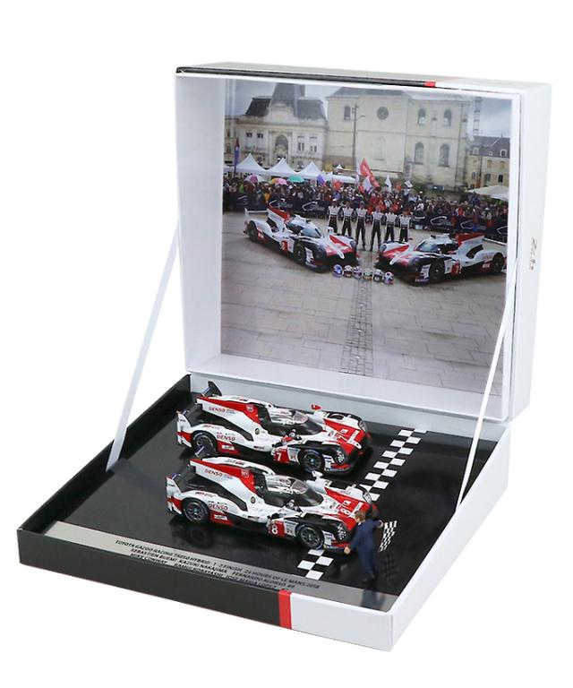 TOYOTA GAZOO Racing ルマン優勝記念 スパーク 1/43 TOYOTA TS050 ハイブリッド 8号車 /7号車 2018ルマン24時間レース 1-2フィニッシュ 2台セット