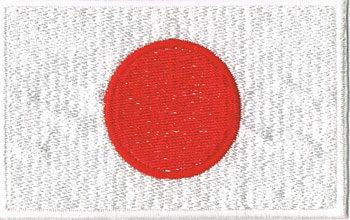 国旗ワッペン 日本(大)