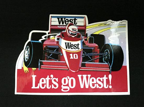 WEST ザクスピード F1 1988年プロモーションステッカー