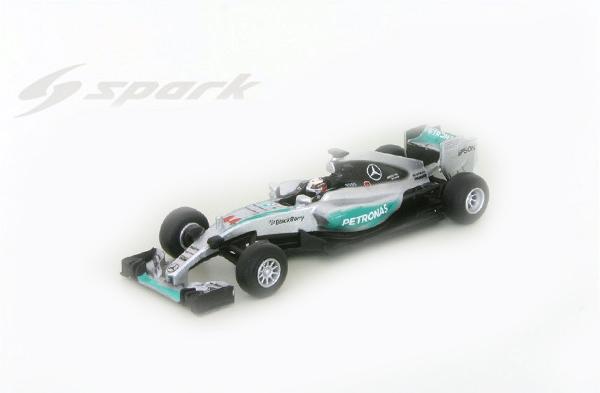 スパーク  1/64 メルセデス GP W06 L.ハミルトン 2015年アメリカGP優勝 ワールドチャンピオンNo.44
