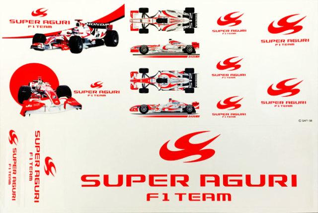スーパーアグリ F1チーム 2006 公式ステッカーセット