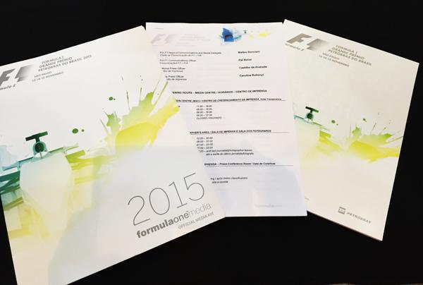 F1公式プログラム 2015年ブラジルGP(メディアキット付)
