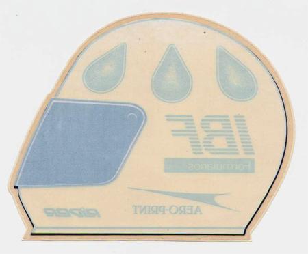 クリスチャン・フィッティパルディ ヘルメットステッカー(ガラスの内側より貼るタイプ)