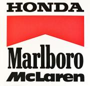 HONDA ホンダ マルボロ マクラーレン 1989年 プロモーションステッカー(A)
