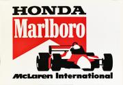 HONDA ホンダ マルボロ マクラーレン 1989年 プロモーションステッカー(B)