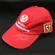 【日本GPフェアーSALE】M.シューマッハ フェラーリ時代 直筆サイン入 キャップ