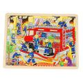 goki 木製パズル 消火活動1