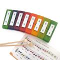 ドイツ製の鉄琴 レインボーグロッケンシュピール8音 楽譜つき
