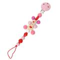 木のおもちゃホルダー ハートネズミ ピンク