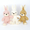 日本製 ぬいぐるみ ウサギのフカフカ クリーム Sサイズ