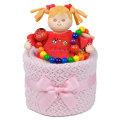 ファーストケーキ 出産祝い レーナちゃんとお出かけおもちゃセットのケーキ