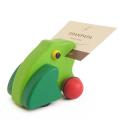 ピントーイ プルバックゼンマイ 木のおもちゃ かえるのハッピー (ラッピング・ポイント利用不可)