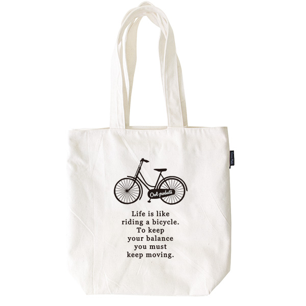 Owl products トートバッグ<bicycle>