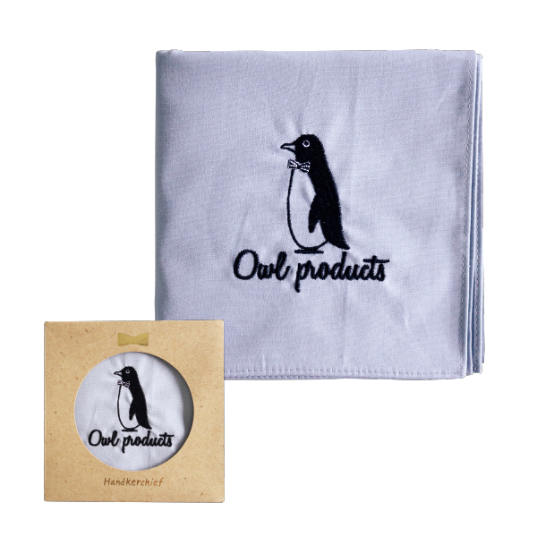 Owl products ハンカチ<penguin>