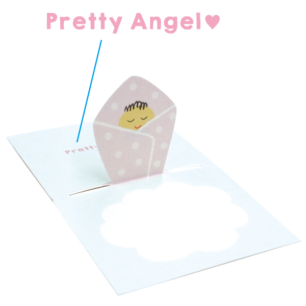 POP UP Minicard<Baby pink> PCG-008