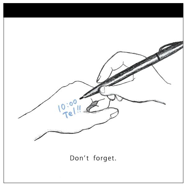watashi lassic. メモパッド・スクエア<Don't forget>GFO-028