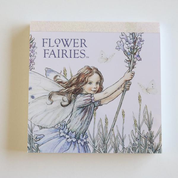 FLOWER FAIRIES メモパッド・スクエア<Lavender_blue>FF-103