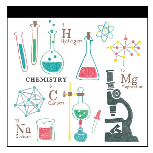 STUDY HOLIC メモパッド・スクエア<化学>ST-003
