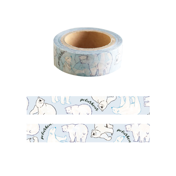 Animal Series マスキングテープ<シロクマ> GF-404