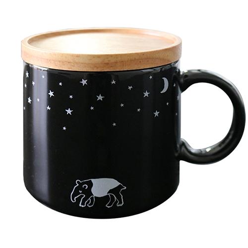 真夜中の雑貨店 フタ付きマグカップ<バク>MZ-035
