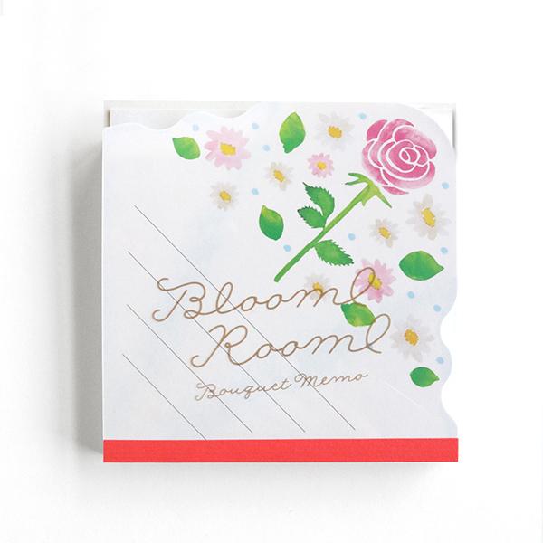 BloomRoom ブーケメモパッド<bara/pink>BR-029