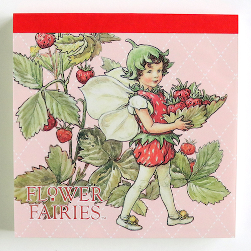 FLOWER FAIRIES メモパッド・スクエア<The strawberry Fairy>FF-135