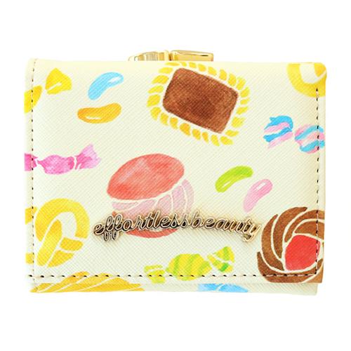 effortless beauty 三つ折り財布<cookie>EB-006