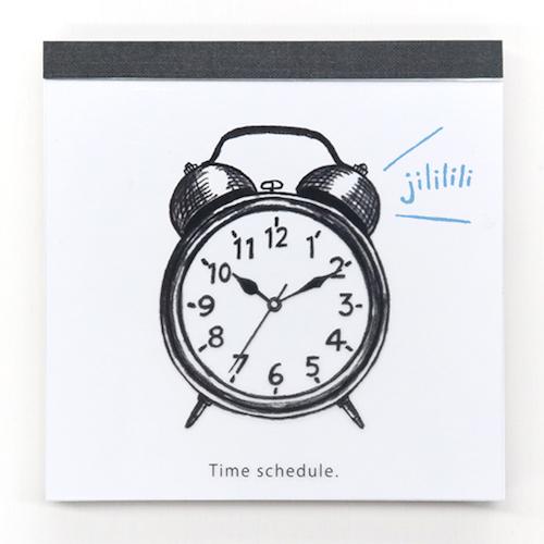 watashi lassic. メモパッド・スクエア<Time schedule>GFO-060