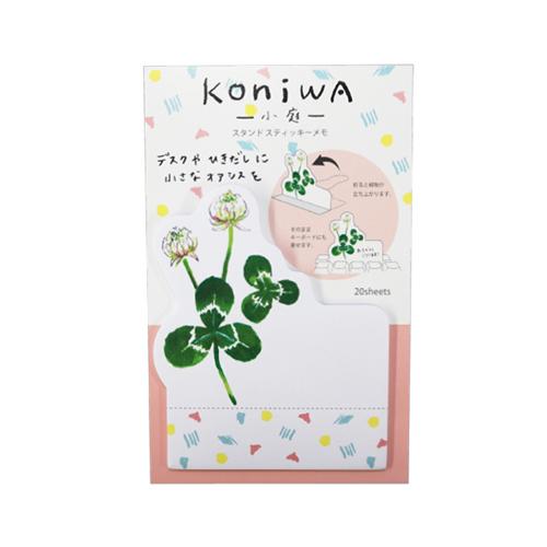 koniwa スタンドスティッキーメモ<しろつめ草>KW-009