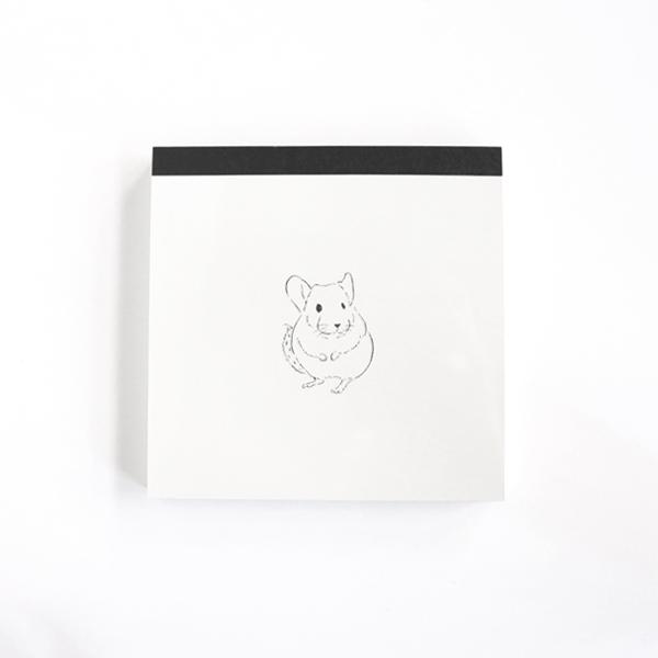 Animal Series メモパッド・スクエア<チンチラ>GF-446