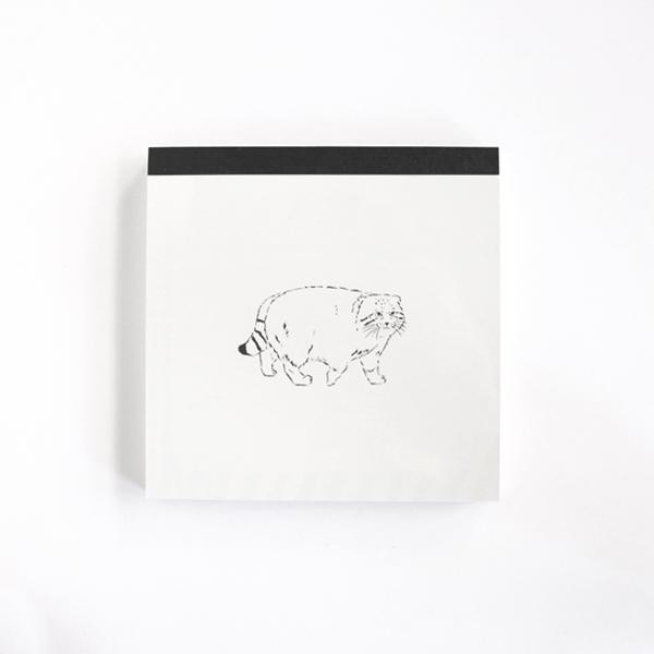 Animal Series メモパッド・スクエア<マヌルネコ> GF-448