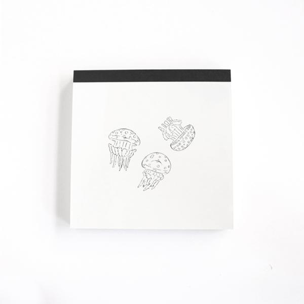 Animal Series メモパッド・スクエア<クラゲ> GF-450