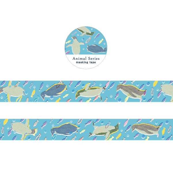 Animal Series 金箔マスキングテープ<ペンギン> GF-468