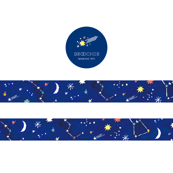 BROOCHIR マスキングテープ<star>BC-013