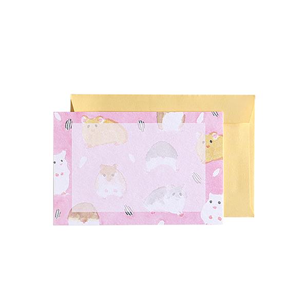 BROOCHIR ミニカードセット<hamster>BC-050