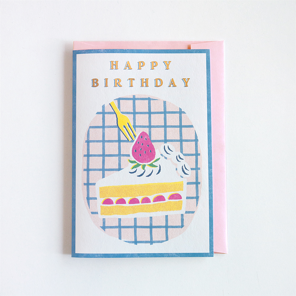 Birthday Card<short cake>GRD-032