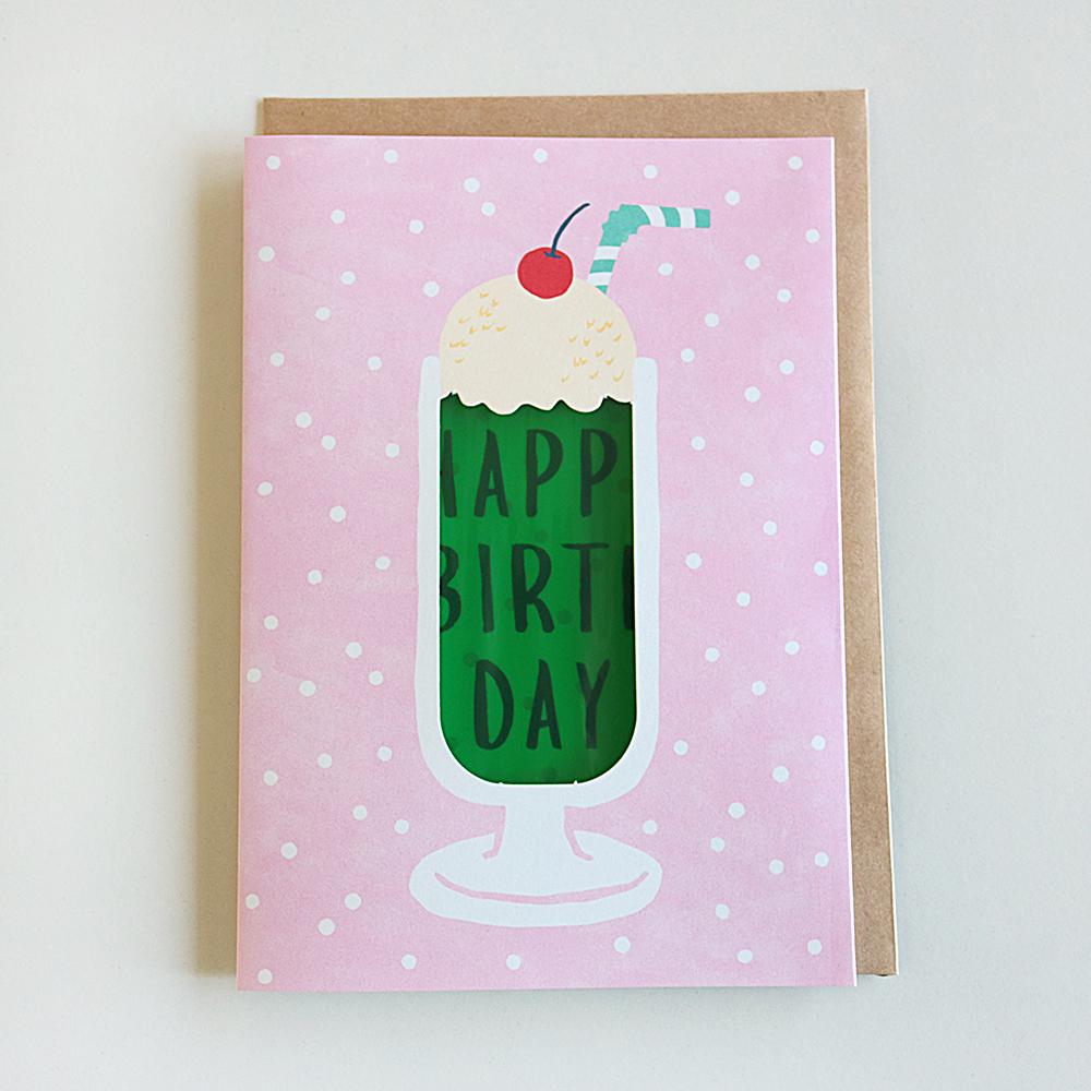 Birthday Card<メロンクリームソーダ>GRD-035