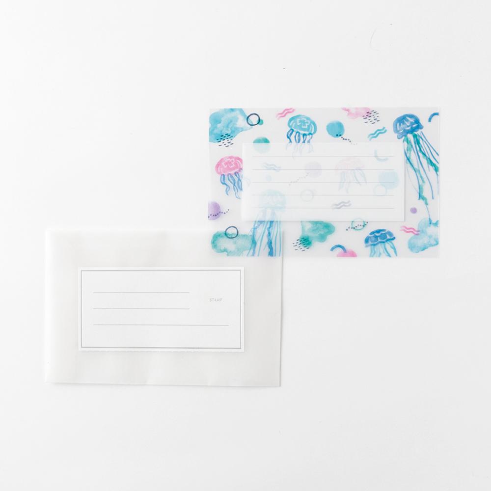 KOHAKU トウメイレターセット<jellyfish> KK-004