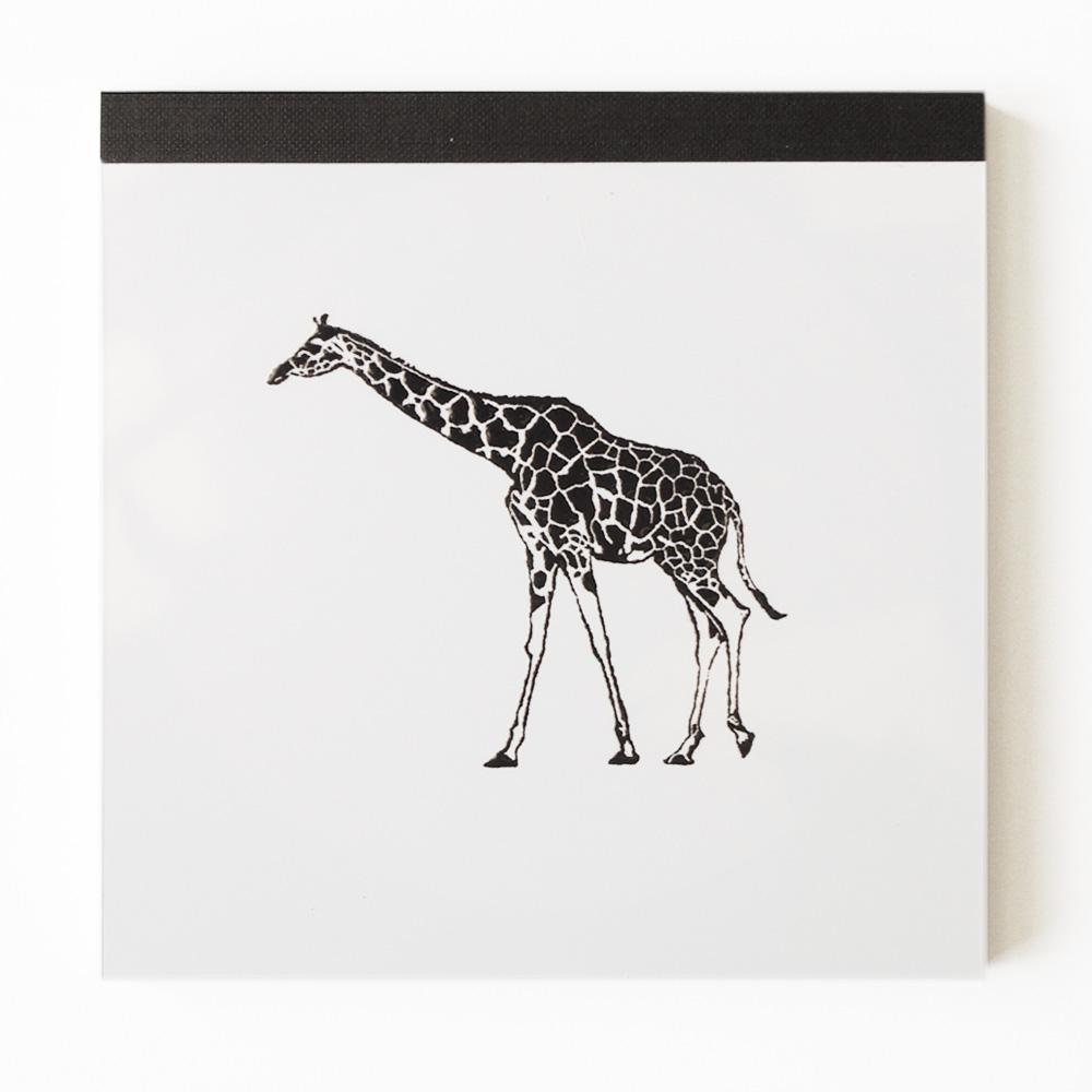 Animal Series メモパッド・スクエア<キリン>