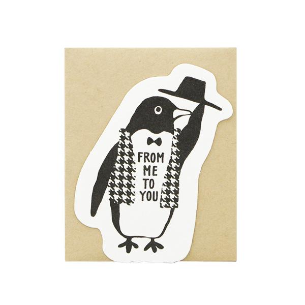 Owl products メッセージカード<penguin>