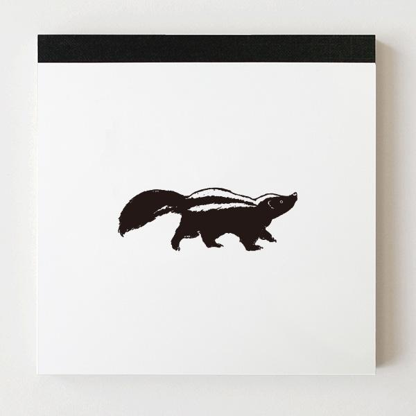 Animal Series メモパッド・スクエア<スカンク>