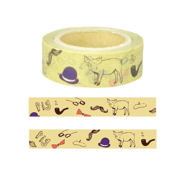 Animal Series マスキングテープ<ブタ>