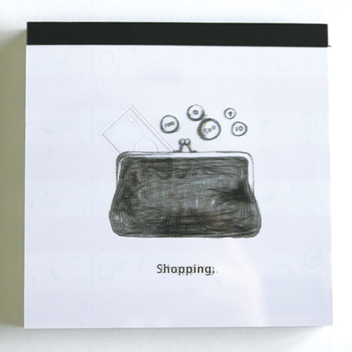 TO DO メモパッド・スクエア<Shopping>GFO-013