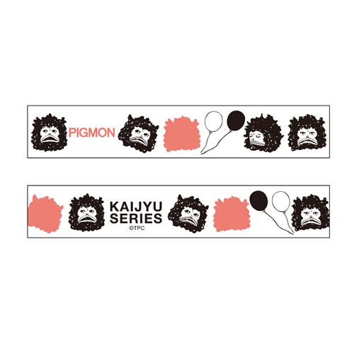 KAIJYU SERIES マスキングテープ<ピグモン/フェイス>