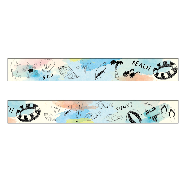 chobit wit マスキングテープ<beach>CW-128