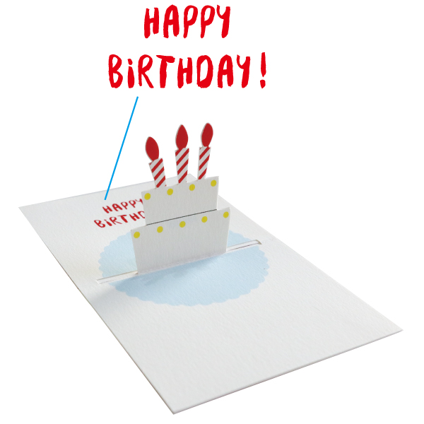 POP UP Minicard <Birthday cake> PCG-001