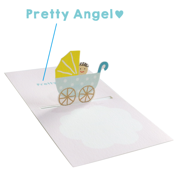 POP UP Minicard <Baby blue> PCG-009