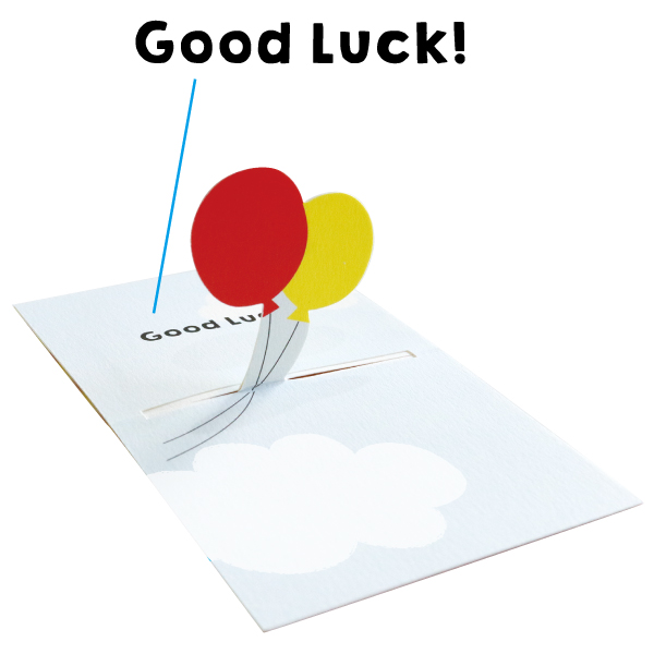 POP UP Minicard <Good luck> PCG-014
