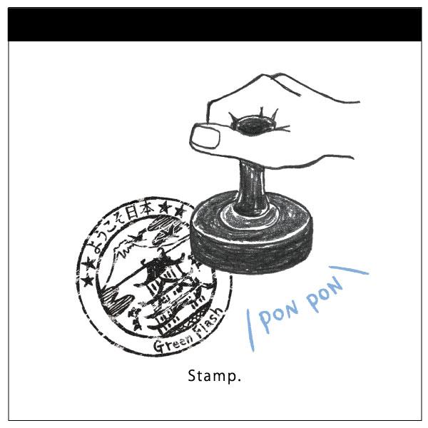 watashi lassic. メモパッド・スクエア<Stamp>GFO-029