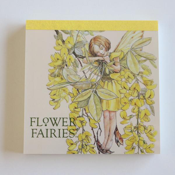 FLOWER FAIRIES メモパッド・スクエア<yellow_green>FF-107